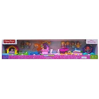 Fisher-Price 1220989 Little People Disney Princess 8 Piece Parade Play Set, Multi