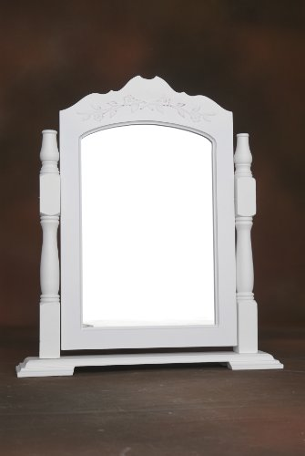 White dressing table mirror on a stand provence style