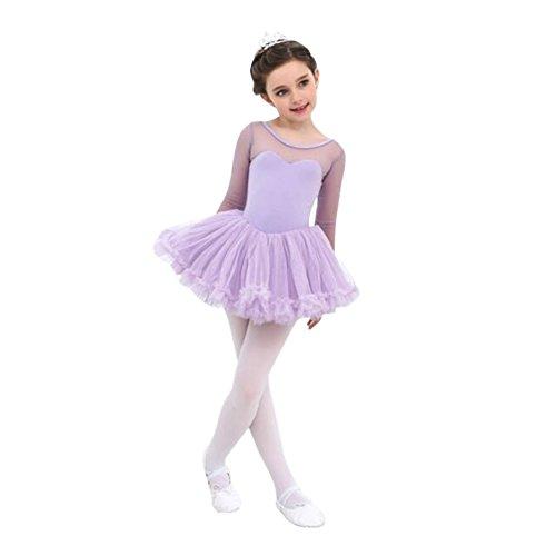 Tanz Leotards Turnanzug Gymnastikanzug für Mädchen, kleines Mädchen Tutu Dress Gymnastik Dancewear Kostüm von Wongfon (Biketard Kostüm)