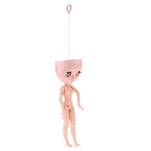 Homyl 19 Gelenke Puppen Nackte Körper Set für 12 Zoll Takara Blythe Puppe (Kopf + Auge Mechanismus Set + Ziehring + Körper) - # 3 (Blythe-puppe, Kopf)