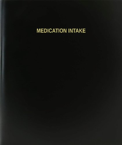 bookfactoryr-ingesta-de-medicacion-libro-de-registro-diario-diario-pagina-120-85-x11-negro-hardbound