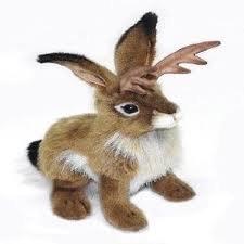 Hansa Jackalope Plush Animal Toy, 9