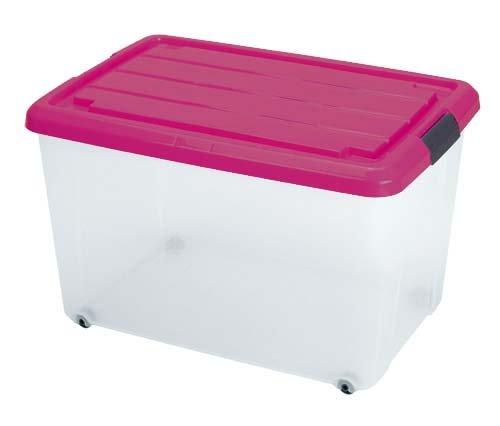 Scatola plastica 50 litri scatola di plastica trasparente - Contenitori di plastica ikea ...