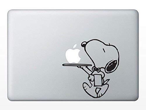 MacDecalDE Snoopy Butler Service Peanuts kompatibel mit/Ersatz für Apple MacBook Air Pro Aufkleber Sticker Skin Decal