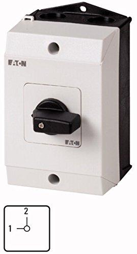 Eaton 222572 Umschalter, Kontakte: 2, 20 A, Frontschild: USV-Netz, 90 °, Rastend, Aufbau