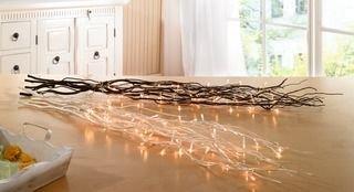Deko-Zweige mit Lichterkette, naturweiß von Frank Flechtwaren bei Lampenhans.de
