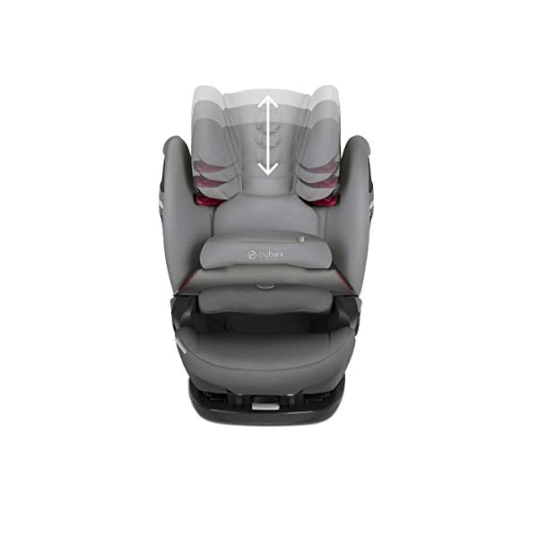 cybex Gold Pallas S-Fix Car Seat, Group 1/2/3, Manhattan Grey  Group 1/2/3 combination car seat. suitable from 9 - 36kg. designed to be used until a maximum height of 150cm, approximately 12 years. The optimized impact shield of the pallas s-fix reduces the risk of serious neck injuries without confining the child. shield suitable until 18kg. The integrated lisp. system offers increased safety in the event of a side-impact collision by reducing the forces by approximately 25%. 6