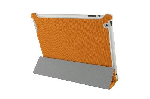 Eloja Premium Kunstleder iPad 4 / iPad 3 / iPad 2 Tasche Hülle Case, Orange, mit Smart Cover Funktion und Display Schutzfolie Wireless Tastatur Ipad2