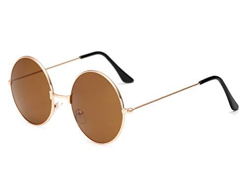 Hochwertige Damen Herren Sonnenbrille Round Glasses Rundglas Hippie Brille, John-Lennon-Style 400 UV, langer Steg Metall, bunt verspiegelt oder getönt