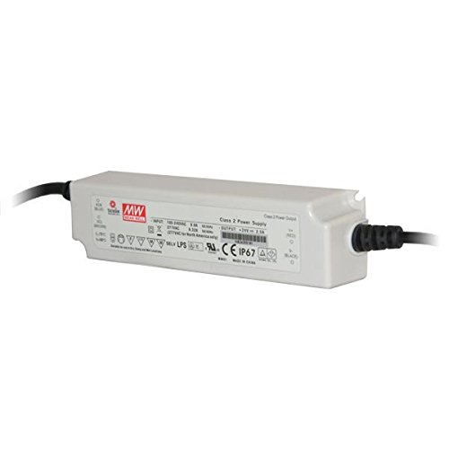 MEANWELL ACC1070-F Transformateur 24VDC 40W IP67 DIM 1-10-LPF-40D-24, Plastique,et Autre materiaux, 40 W, Blanc, Hauteur x Largeur x Profondeur : 162, 5 mm x 43 mm x 32 mm