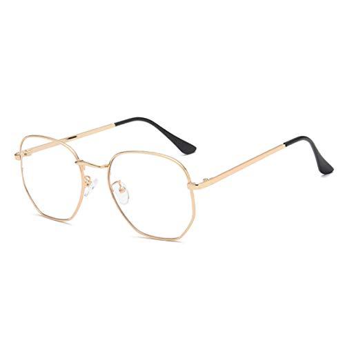 Huicai Fashion Unisex Vintage Full Metal Square Frame Optische Gläser