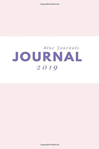 Journal 2019: Blank Line Daily Journal & Diary (Power Pink) por Blue Journals