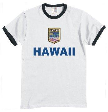 Hawaii-Camiseta-de-camiseta-Look-escudo-S-XXL-blanconegro-xx-large