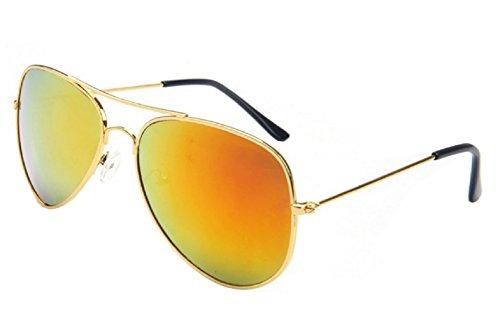 Inception Pro Infinite (Golden Frame - Red Lens) Sonnenbrillen - Männer - Frauen - Unisex - Aviator - Spiegel - Drop - Classic