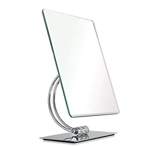 Espejos compactos Espejo De Maquillaje De Escritorio, Contador De Espejo De Escritorio De HD Espejo De Vestirse De Belleza En Casa Espejo Grande De Princesa Espejo De Un Solo Lado De Espejo HD Se Pued