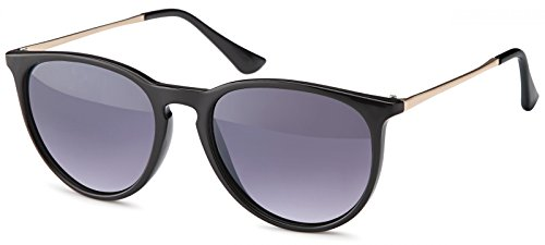 styleBREAKER Sonnenbrille mit großen ovalen Gläsern und Metall Bügel, Damen 09020085,...