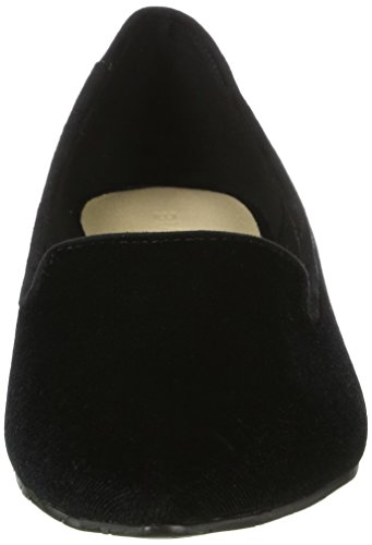 Bianco Damen Samt Loafer 25-49634 Slipper Schwarz (Black)