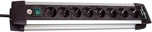 Brennenstuhl Premium-Alu-Line Steckdosenleiste 8-fach schwarz mit Schalter