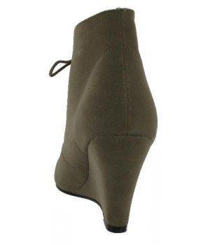 Chaussure Bas Prix - Bottines femme kaki - F879-14 Kaki