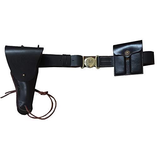 warreplica US WWII M1916 .45cal 1911 Pistolen Leder, Gürtel, Ammo Pouch Set -