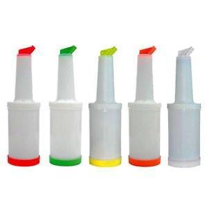 Bottle Speed Saft/ Store 'n Pour, Verschiedene Farben ONE PIECE, Kapazität 1 Liter, Radioactivebarman
