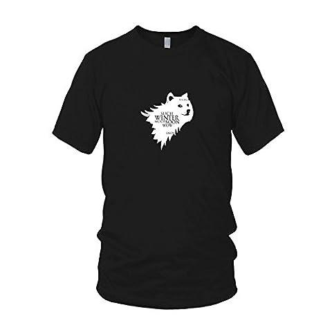 Doge Meme - Herren T-Shirt, Größe: L, Farbe: schwarz (Internet Meme Kostüm)