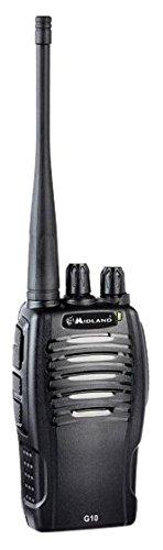 Midland G10 - Walkie Talkie pequeño y compacto, 16 canales, color negro