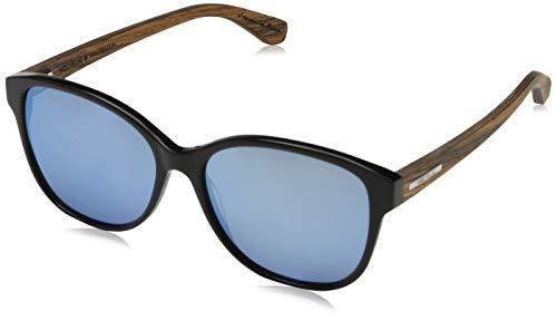 Wood Fellas Damen Sunglasses Basic Wallerstein Sonnenbrille, grey/havana/black oak, 56