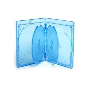 Blu-ray Boitiers 5 Blu-ray/DVD Elite 15 mm bleu, 5 pièces