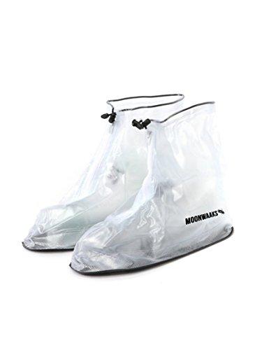 Regenschutz, perfekt für Festivals, Schuhüberzieher, 100% wasserfest, perfekt zum Spazieren gehen, Wandern und Fahrradfahren, saubere Schuhe, Regenjacke für die Schuhe Weiß