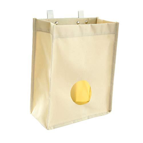SwirlColor ultramarinos de la lona del bolso del sostenedor y dispensador de bolsas de basura Organizador bolsas de basura de reciclaje contenedores para la cocina - albaricoque