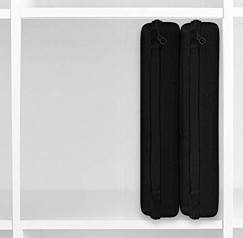 2x Hardcase/Etui/Organizer für IKEA Kallax & Expedited Regal Regalsysteme zur Aufbewahrung [schwarz, Stoffbezug 32 cm x 24 cm x7 cm ]