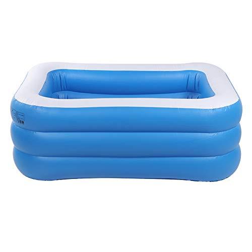 Zerodis Aufblasbare Schwimmbad Swim Center Pool Sommer Wasser Spaß Badewanne Spielzeug mit Reparatur Aufkleber für Kleinkinder und Erwachsene interaktives Spielzeug(1,3 M DREI Schicht)