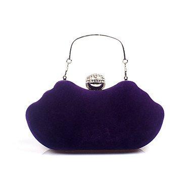 pwne L. In West Woman Fashion Luxus High-Grade Flannelette Diamanten Abend Tasche Purple