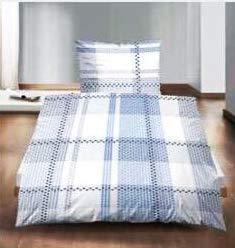 Marico London Luxus-Bettwäsche-Set Seersucker aus 100{f4eb985d47f6679b465303868f9d793193592ceeee66bfabcd057662da5329d9} Baumwolle, Blue/White/Grey, 140x200cm +70x90cm