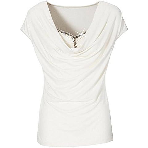 camisa de las mujeres, FEITONGL as mujeres de verano de manga corta blusa de las señoras de las tapas ocasionales de la camiseta