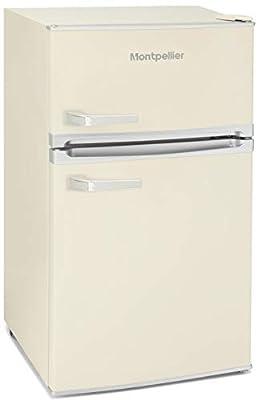 Montpellier MAB2031C Under Counter 1950's Retro Fridge Freezer in Cream