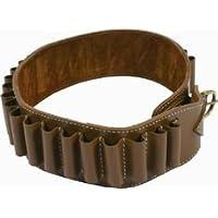 alta qualità 12ga deluxe pelle marrone cartuccia cintura per 25 conchiglie. Da 34