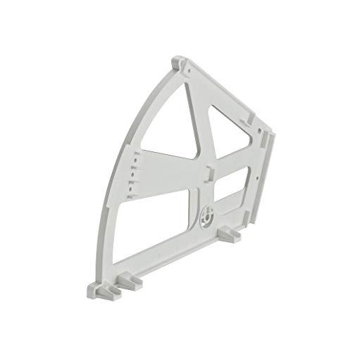 Gedotec Kippbeschlag für Schuhschränke Schuhablage mit 1-Fach | Drehbeschlag Kunststoff weiß | Möbel-Scharnier zum Einbau in Schuh-Regal | 1 Stück - Schließ-Mechanismus für Schubladen & Türen - Tür-scharnier Einbau
