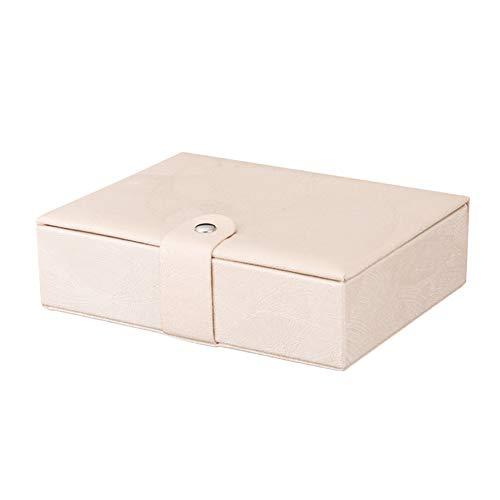 Bling Schmuck aufbewahrungsbox für Frauen pu Leder magnetschnalle große kapazität aufbewahrungskoffer,Pink - Schmuck Schrank Lock Große Mit