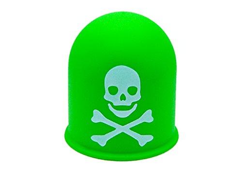 Schutzkappe Anhängerkupplung Deckel Schädel Trike Quad Skull Totenkopf grün
