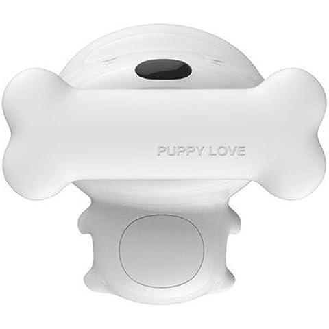 Splink LED Iluminación infantil nocturna Lámpara de la mesilla con sensor táctil Regulable Recargable Lámpara de mesa Forma de perro Cachorro Sistema de apagado automático para Niño Bebé (luz cálida)