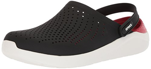 crocs Unisex Lite Ride Black/White Clogs