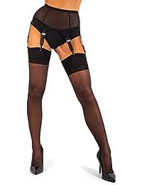 d98486d5990 sofsy Sheer Thigh High Stockings for Women s Garter Belt Suspender Belt