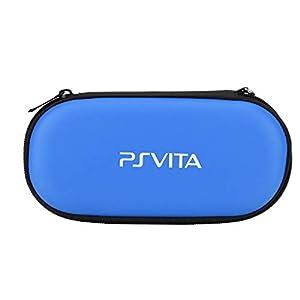 Tonysa Hartschalenkoffer-Schutzhülle Tragbare Reisetasche für PS Vita, stoßfeste Playstation Vita-Reisetasche(Blau)