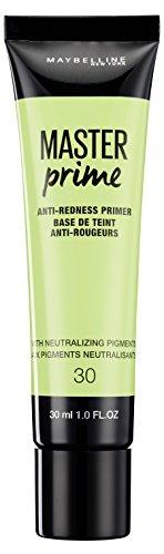 Makelloses Gesicht Grundierung (Maybelline Master Prime Nr. 30 Anti-Redness, Make-up-Primer, kaschiert Rötungen, bereitet die Haut optimal auf das Make-up vor, 30 ml)