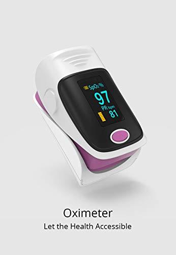 Home Baby- und Erwachsenenthermometer Babythermometer Stirn und Ohren bieten ein präzises, professionelles klinisches Zweimodusthermometer mit einem Silikonkappen-Fingerspitzen-Pulsoximeter.,Lila