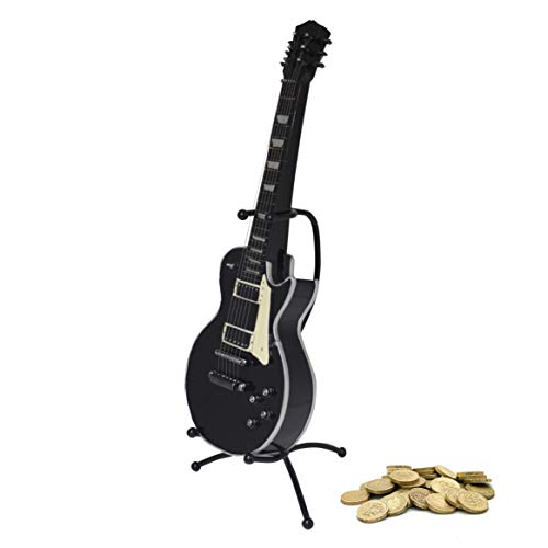 Maison des Cadeaux MB250 - Hucha, diseño de Guitarra, Color Negro