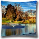 attractive-diy-design-home-decorative-custom-lake-at-darden-towe-park-pillow-case-16x16-inchtwo-side