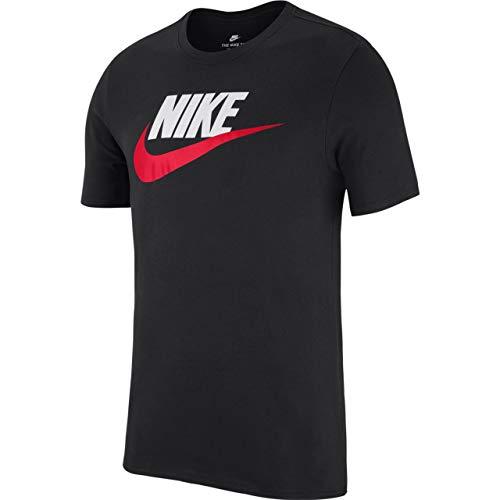 Nike Herren Tee Icon Futura T-Shirt, Black, M -